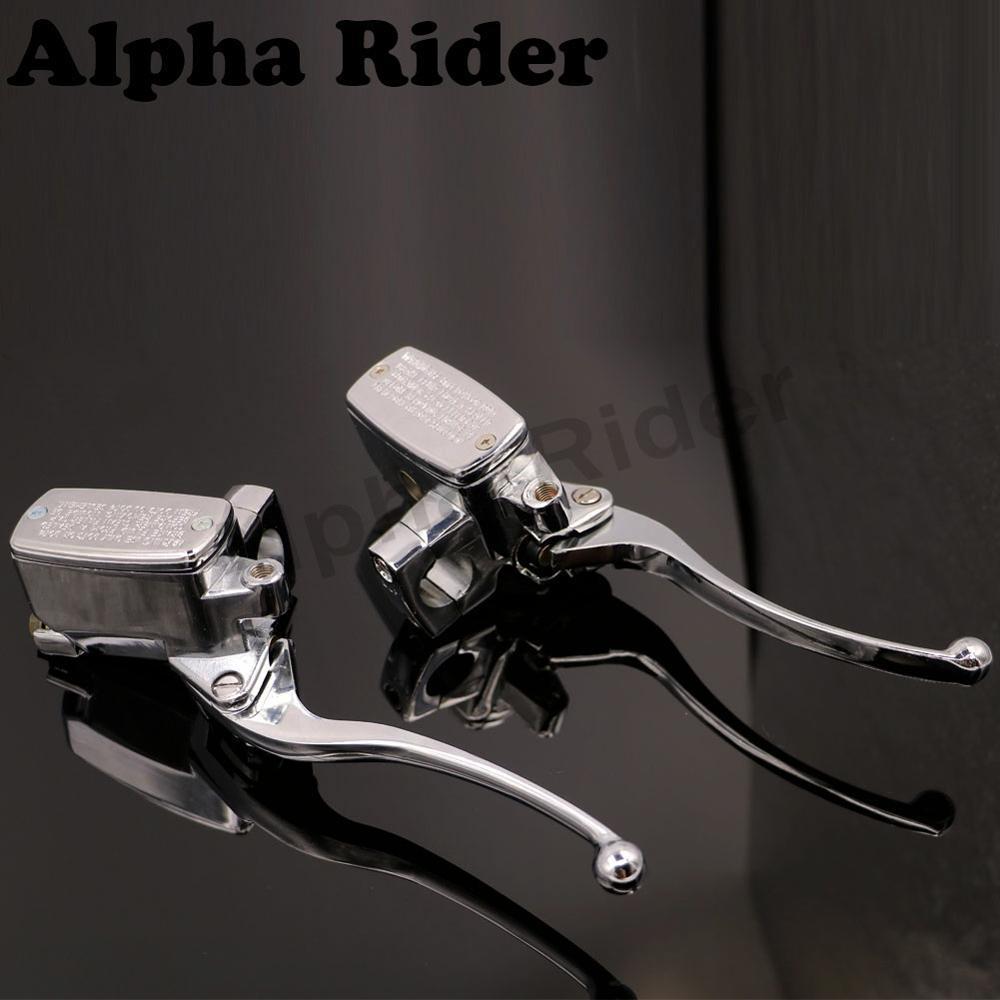 1 25MM Clutch Brake Levers Hydraulic Master Cylinder Reservoir for Harley Honda Kawasaki BMW Yamaha XV19 XVS11 XVS1300 XVS650<br>