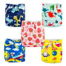 Babyland baby diapers low price 6pcs A Lot Washable Watproof Reusable Cloth Diaper Covers Free Shipping(China)