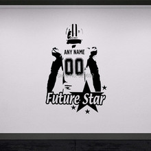 American Football player Wall art Decal sticker Choose Name number personalized home decor Wall Stickers For Kids Room Vinilos