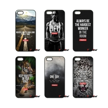 Gymaholic motivation Poster Quote For iPod Touch iPhone 4 4S 5 5S 5C SE 6 6S 7 Plus Samung Galaxy A3 A5 J3 J5 J7 2016 2017 Case