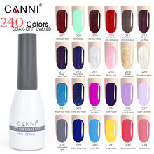 207-234 CANNI professional salon 15ml gel nail polish soak off led uv lamp nail art color paint long lasting glitter lacquer(China)
