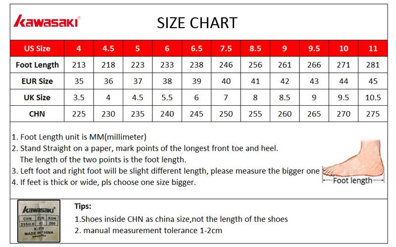 badminton shoes size