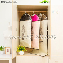 Timelive Brand New  Dustproof Cover Bag Garment Suit Dress/Jacket/Clothes /Coat Protector Wardrobe Storage Bags wholesale