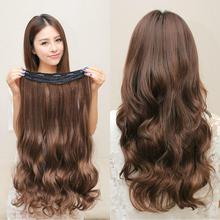 10 Colors 60cm Wavy 5 Clips in False Hair Styling Synthetic Clip In Hair Extensions One Piece Heat Resistant Hair Pad