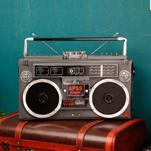 Do the old iron retro radio model coffee tea shop decoration room bookcase desktop decoration