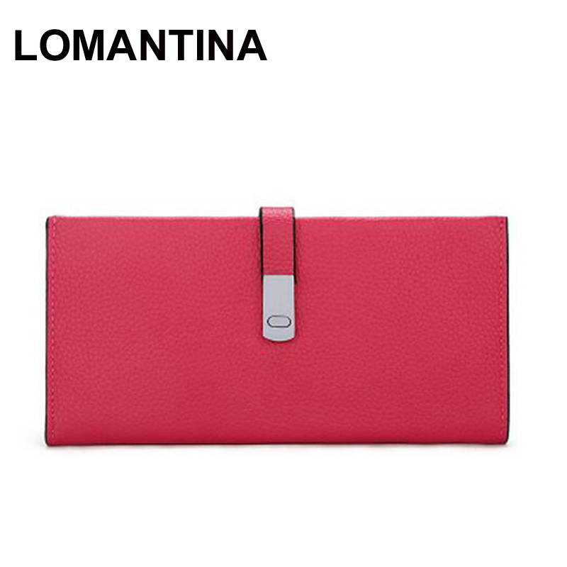 Hot Selling Genuine Leather Wallet Women Haps Purse Slim Lady Long Wallets(China (Mainland))