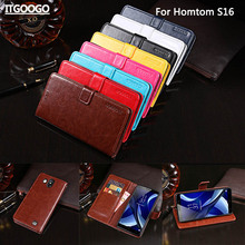 Buy Homtom S16 Case Cover Luxury Leather Flip Case Homtom S16 Protective Phone Case Back Cover Wallet Case for $6.87 in AliExpress store