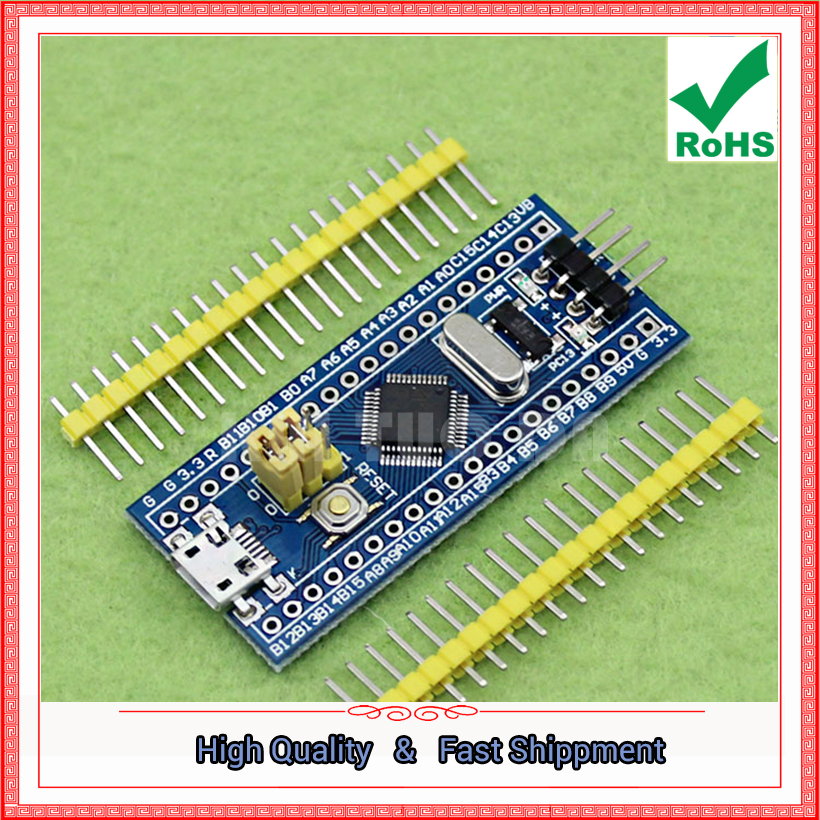 Free Shipping 3pcs STM32F103C8T6 small system board ARM STM32 core board embedded single-chip module D3A5(China (Mainland))