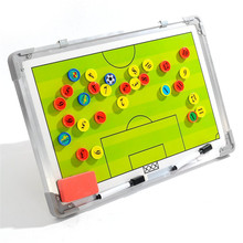 Top quality waterproof double-sided pattern available Football tactics board / basketball tactics board soccer coach supplies(China)