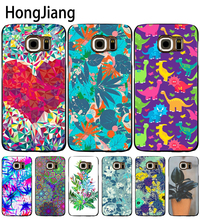 HongJiang Botanical Blues ligth cell phone case cover for Samsung Galaxy S7 edge PLUS S8 S6 S5 S4 S3 MINI