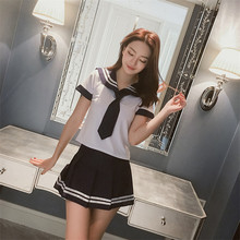 Buy Cosplay Student Erotic Lingerie Women Solid Sexy Vest+Mini Skirt Porn Sex Costumes Outfit Temptation Sexy Schoolgirl Uniform