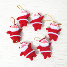 Hoomall 15PCs Christmas Ornaments Mini Santa Claus Merry Christmas Decorations for Home New Year DIY Tree Hanging Dolls Gifts