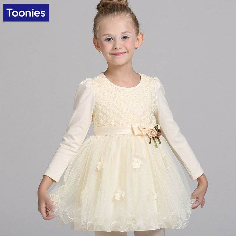 Girls Ball Gown Evening Dress New Year Christmas Costume for Children Rose Flower Wedding Clothing Elegant Princess Kids Dresses<br><br>Aliexpress