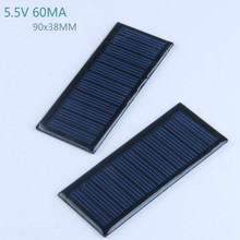5Pcs Solar Panels Solar Cells DIY Flexible Solar Battery Energy Plate 5.5V 60MA 90x38MM Panneau Solaire