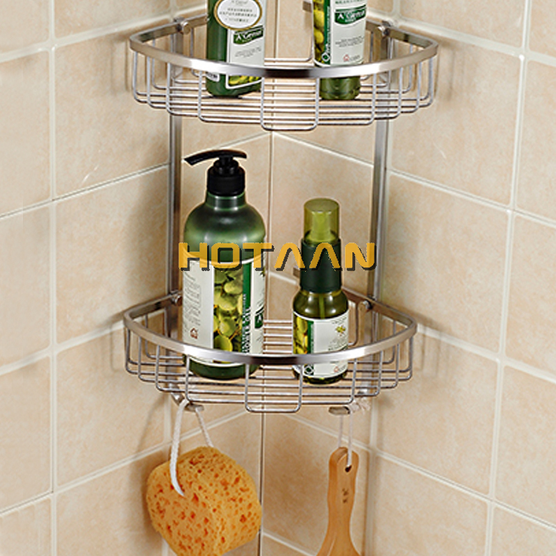 Stainless Steel304 Triangle Bathroom Wall Shower Caddy Rack Storage Shelf Hanger