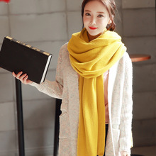 Hot Sale Knitting Wool Female Long Scarf Solid Shawls Dual Purpose Autumn and Winter Keep Warm Lovers Scarfs 10 Colors Available(China)