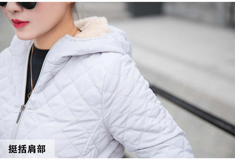 Autumn 2018 New Parkas basic jackets Female Women Winter plus velvet lamb hooded Coats Cotton Winter Jacket Womens Outwear coat 29