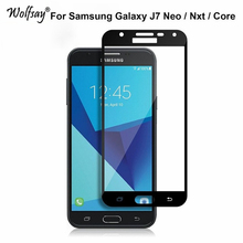 Buy 2.5D Full Cover Tempered Glass Samsung Galaxy J7 Neo Screen Protector Coverage Film Samsung Galaxy J7 Neo Nxt Core Glass for $1.66 in AliExpress store