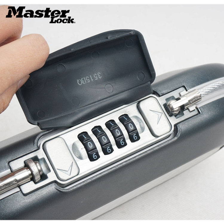 Master Lock Portable Safe Box Password Lock Mini Safes Jewelry Cash Card Phone Storage Boxes Security Strongbox Wire Rope Fixed (4)