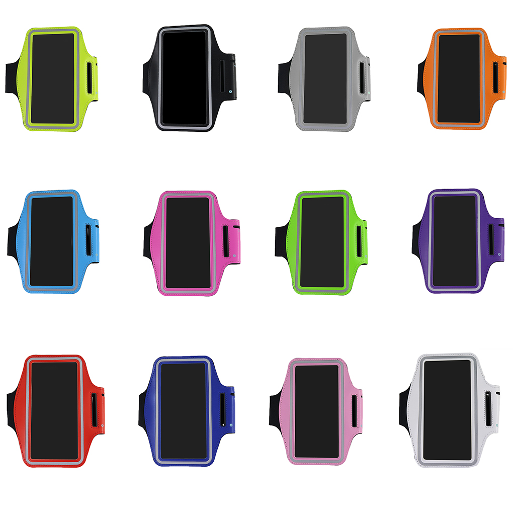 Universal Waterproof 5.5inch Sport Armband Belt Running Gym Bag Armband Pouch Case For Iphone 7plus 8plus Xplus With Key Holder Armbands