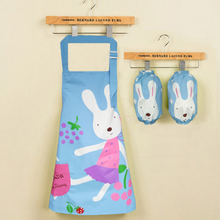 Children's Sleeved+Apron cartoon waterproof baby boy girl drawing apron coverslut  adjustable wholesale FG276