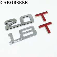 Buy CARORSBEE 3D metal 1.8T 2.0T Engine Displacement Car sticker Emblem Badge Logo Decals Turbo TSI Auto Rear Trunk Trim accessories for $1.37 in AliExpress store