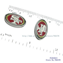 SL0297 Football San Francisco 49ers logo sign slide charms 8mm 10pcs DIY charms Internal Dia.8mm fit 8mm band free shipping