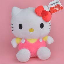 20cm Pink Hello Kitty Plush Toy, Baby Gift Kids Doll Wholesale with Free Shipping(China)