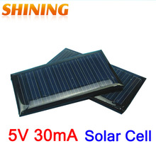 5V 30mA Mini Polycrystalline 0.15 Watts Solar Cell Battery Panel Charger For DIY Education Study Kits Small 3.7V Battery Toy