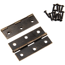 2Pcs Antique Bronze Cabinet Hinges Furniture Accessories Drawer Hinges for Jewelry Boxes Furniture Fittings for Cabinets 60x37mm(China)
