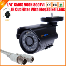 High Quality CCTV Camera 800TVL IR Cut Filter 24 Hour Day/Night Vision Video Outdoor Waterproof IR Bullet Surveillance Camera
