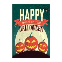 Halloween Garden Flags Time Treack Or Treat Designed With Double Sided Printing Decorative Flag Outdoor And Indoor Banner