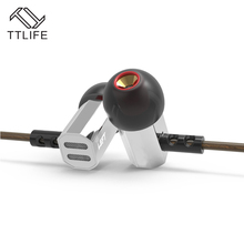 Original TTLIFE Bowl Tuning Nozzles T Shaped HiFi Monitors Earphone With Microphone Super Bass For Phones Transparent Sound(China)