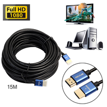 High Speed 1080p Aluminum Cable HDMI Male to HDMI Cable 3D for HD TV 1m 1.8m 3m 5m 10m 15m Gold Plated Audio HDMI Cable