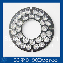 CCTV Camera  Bulb 30LED 8mm Infrared IR Led Board For Camera 90 Degree Bulb