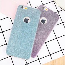 Shiny diamond cell phone case For iphone 6 6S 6Plus 6s plus 7 7Plus 8 8Plus 5 5S SE Cases Ultra-thin Soft TPU Glitter back cover