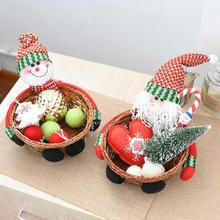 Christmas Candy Sugar Organizer Basket Storage Box Bins Case Table Desk Christmas Decoration For Home Gifts Kids Toys v3(China)