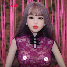 Buy Top Quality 140cm/148cm/158cm/165cm Real Silicone Sex Doll Anime Sexy Chinese Love Doll Rubber Woman Boneca Sexual Free Shipping