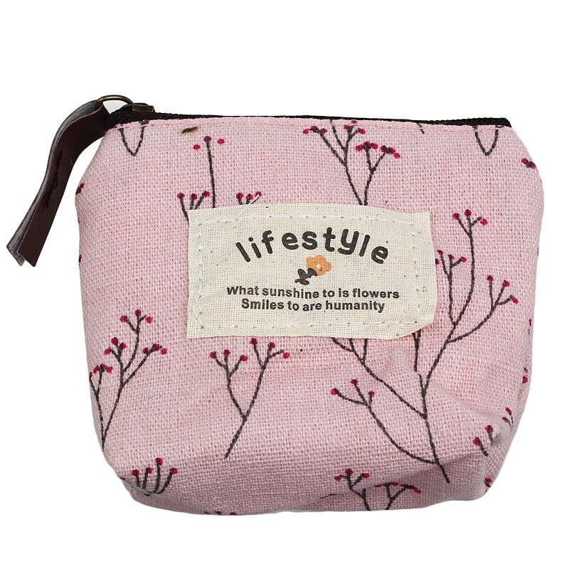 Hot Sale Fresh New Style Coin Purse Women Girls Canvas Small Wallet Zipper Wallets Credit Card Holder Key Case Bag Handbag<br>