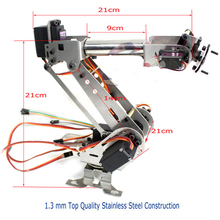 6 Axis Mechanical Robotic Arm Clamp for Arduino Raspberry mor Fully Assembled diy robt
