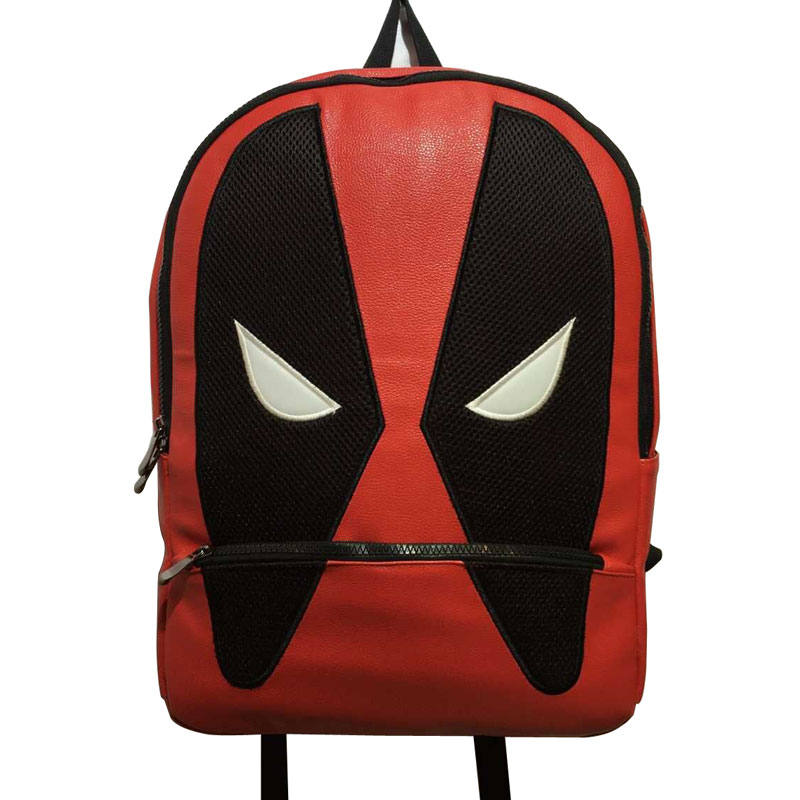 2017 Hot Anime PU Leather School Bags Deadpool Backpack Pouch Mochila Fashion Travel Backpack for Kids Boy Girl School Bag<br>