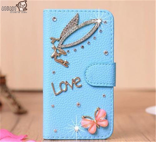 Bling Crystal Diamonds Pearls Handmade Wallet PU leather flip slots stand wallet case cover Nokia Lumia 625
