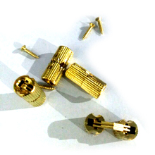 Jetting 4PCS 8mm Copper Barrel Hinges Cylindrical Hidden Cabinet Concealed Invisible Brass Hinges Mount For Furniture Hardware(China)