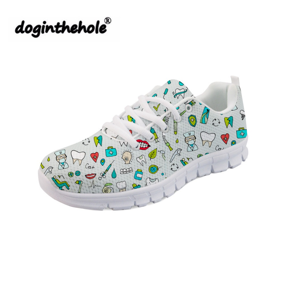 Womens Sport White Skidproof Nursing White Shoes Hospital Footware Work Shoes Sz