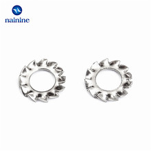 100Pcs DIN6798A M2.5 M3 M4 M5 M6 M8 M10 304 Stainless Steel Washers External Toothed Gasket Washer Serrated Lock Washer  HW051