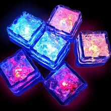Chritmas 12pcs Water Sensor Multi Colors Changing Led Ice Cubes Event Party LED Luminous Lces for Wedding Decoration