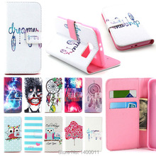 Cartoon Design Magnetic Holster Flip Leather cell Phone Cover case for Samsung Galaxy S3 S4 S5 S6 edge i9300 i9500 cases Caque