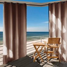 NICETOWN Triple Weave Microfiber Home Thermal Insulated Ring Top Blackout Indoor Outdoor Window Curtain 1 Panel