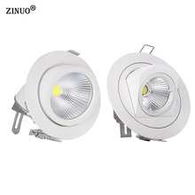 ZINUO 10W 15W COB Led Downlights Recessed Ceiling Spot Light 360 Degree Adjustable Ceiling Downlight For  Home Office AC85-265V