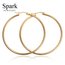 Factory Direct 100mm Hoop Earrings Paparazzi Basketball Wives 316L Stainless Steel Gold and Sliver Female Bijoux Wholesale